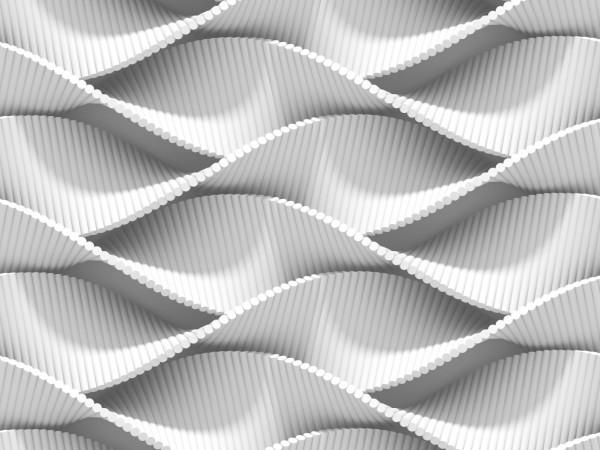 Vlies Tapete Poster XXL Fototapete 3D Effekt Muster Weiss