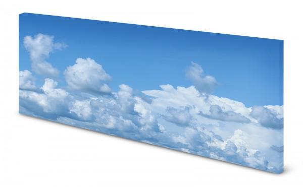 Magnettafel Pinnwand Bild Wolken Himmel blau gekantet
