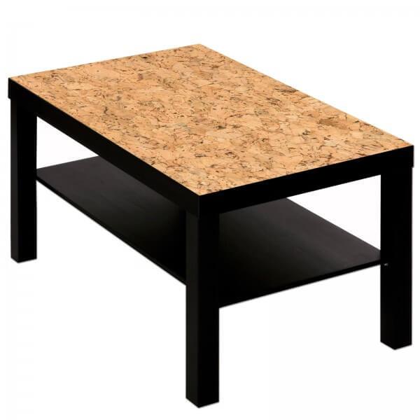 Couchtisch Tisch mit Motiv Bild Muster Kork Dekor