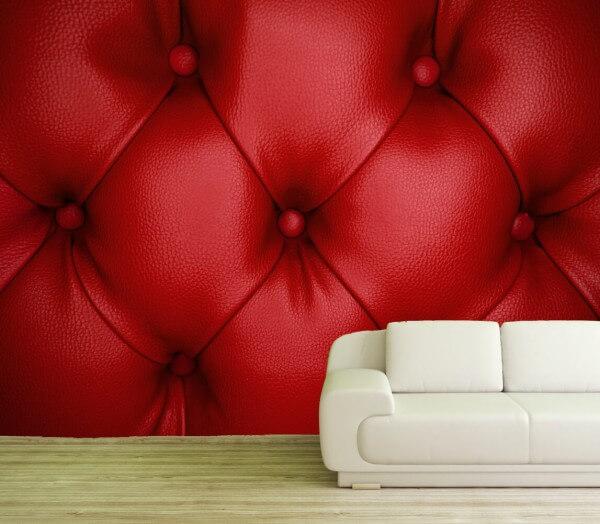 Vlies XXL-Poster Fototapete Tapete Muster Leder in rot