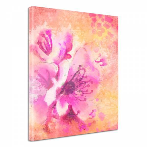 Leinwand Bild edel Blumen zarte Blüten in rosa