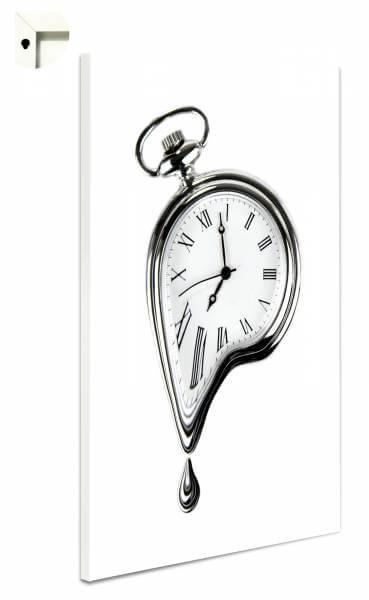 Magnettafel Pinnwand zerfließende Uhr