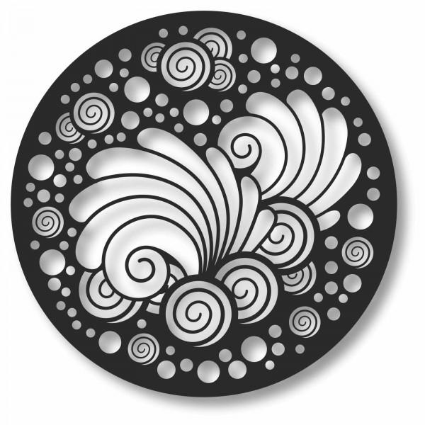Bild Wandbild Kreisbild Kreis 3D Acryl Mobile Abstrakt Muster Kreise