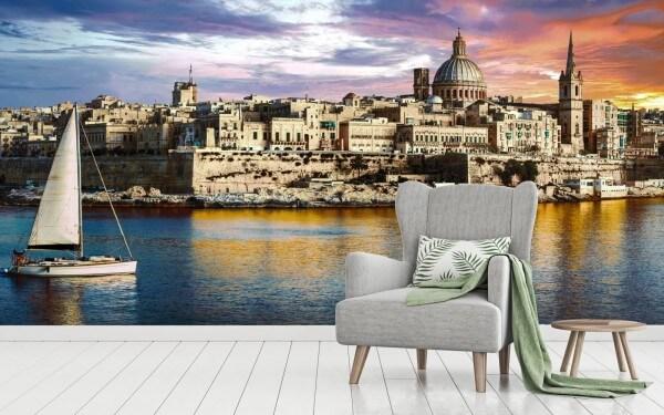 Vlies Tapete XXL Poster Fototapete Valletta Malta