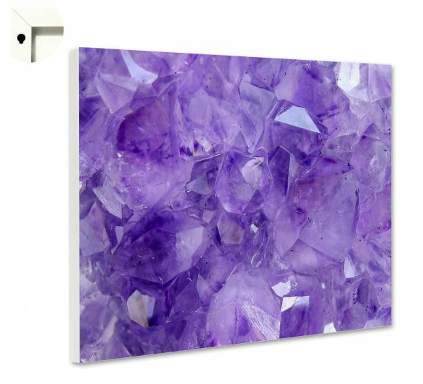Magnettafel Pinnwand Kristalle in lila