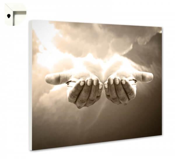 Magnettafel Pinnwand strahlende Hände
