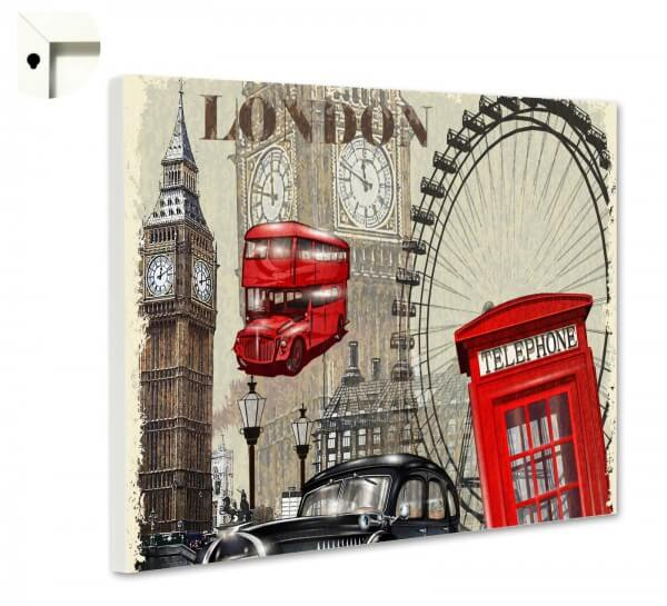 Magnettafel Pinnwand England London Big Ben Telephone 2
