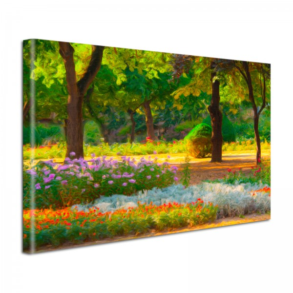 Leinwandbild Gemälde Park