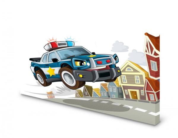 Magnettafel Pinnwand Bild Polizei Polizeiauto Kinder XXL gekantet