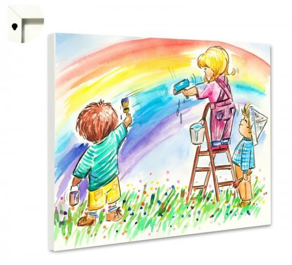 Magnettafel Pinnwand Kinder Regenbogen