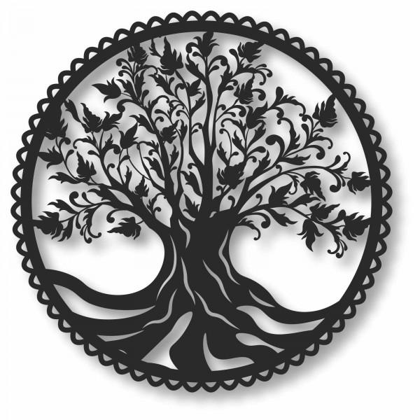 Bild Wandbild Kreisbild Kreis 3D Acryl Mobile Lebensbaum Baum Natur