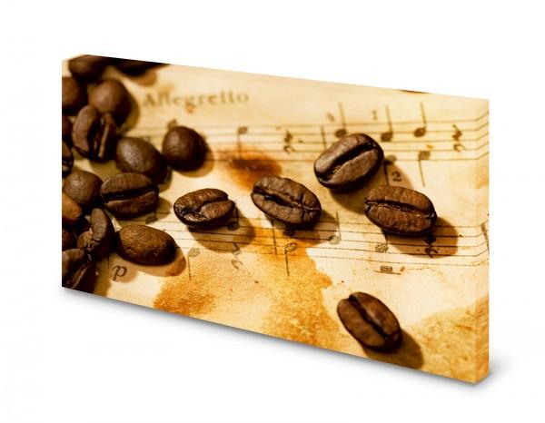 Magnettafel Pinnwand Bild Kaffee Noten Musik Cafe XXL gekantet