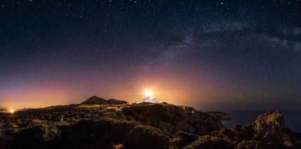 Magnettafel Pinnwand Bild XXL Panorama Sternenhimmel Nacht