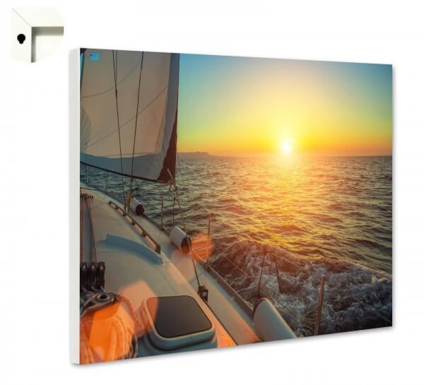 Magnettafel Pinnwand Natur Segelboot Meer