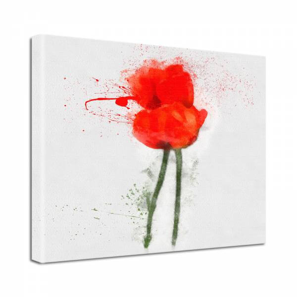 Leinwand Bild Natur & Blumen Blumen Mohn rot