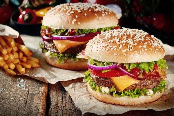 Magnettafel Pinnwand XXL Bild Burger Pommes Cheeseburger