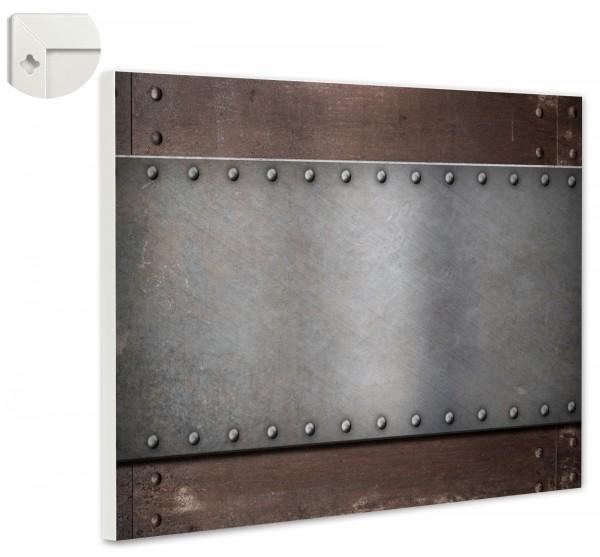 Magnettafel Pinnwand Magnetwand Rost Metall Nieten