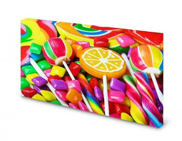 Magnettafel Pinnwand Bild Lolli Bonbons bunt XXL gekantet