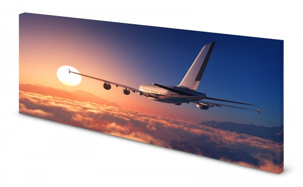 Magnettafel Pinnwand Bild Flugzeug Flieger XXL gekantet