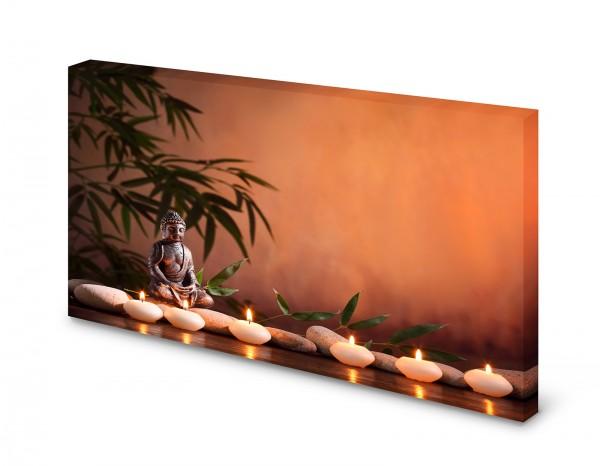 Magnettafel Pinnwand Bild Buddha Zen Wellness XXL gekantet