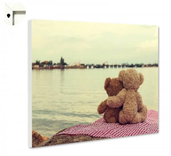 Magnettafel Pinnwand mit Motiv Teddy Bär Freundschaft & Liebe