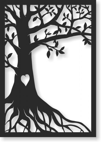 Bild Wandbild Wandtattoo Acryl Mobile Baum Herz Lebensbaum