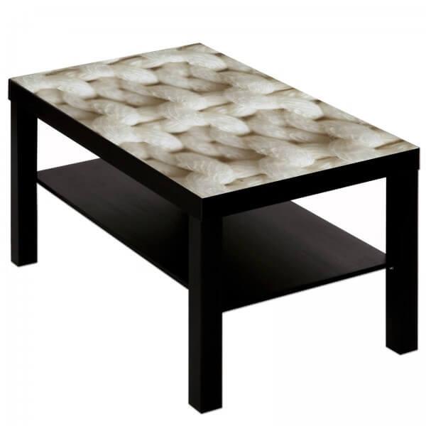 Couchtisch Tisch mit Motiv Bild Muster Strickmuster Maschen Wolle 2