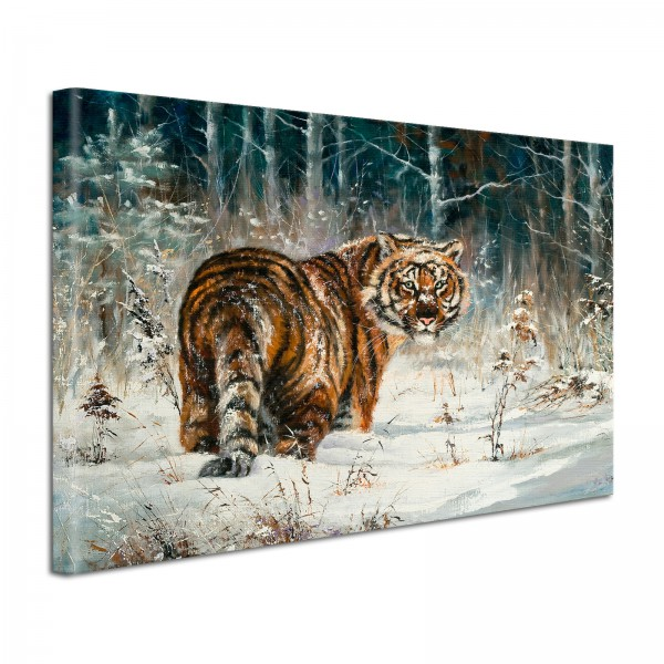 Leinwandbild Gemälde Tiger