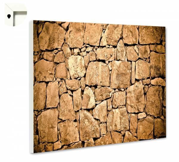 Magnettafel Pinnwand Steinwand Steinoptik