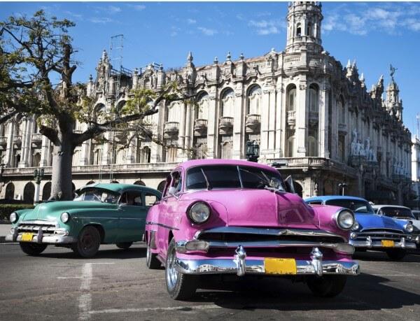Poster Fototapete Oldtimer Kuba 3