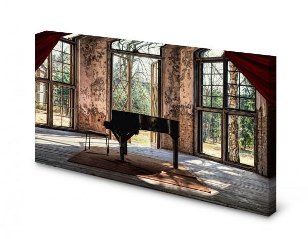 Magnettafel Pinnwand Bild Lost Place Klavier Flügel gekantet