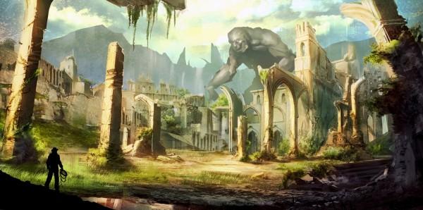 Magnettafel Pinnwand Bild XXL Panorama Ruine Jones Abenteuer