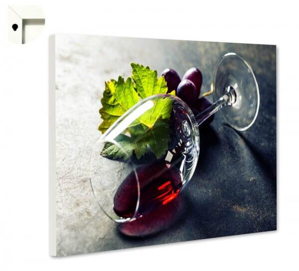 Magnettafel Pinnwand Rotwein Glas Elegant