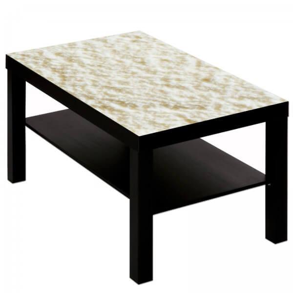 Couchtisch Tisch mit Motiv Bild Muster Eiscreme Vanille