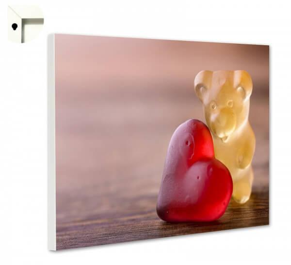 Magnettafel Pinnwand Küche Gummibärchen Herz in love
