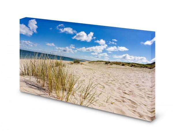 Magnettafel Pinnwand Bild Strand Düne Meer XXL gekantet