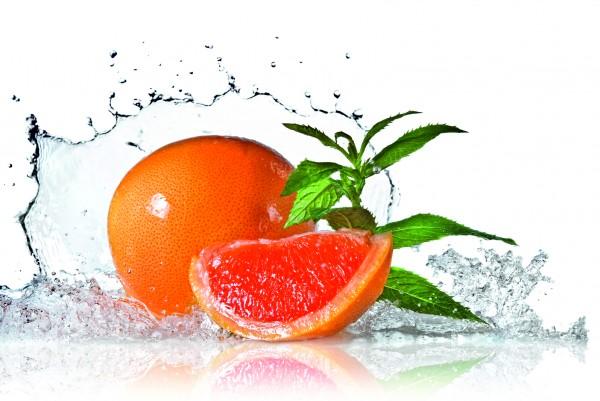 Magnettafel Pinnwand XXL Bild Küche Pampelmuse Grapefruit