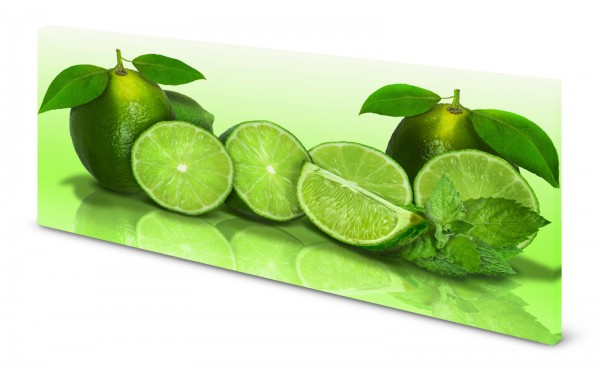 Magnettafel Pinnwand Bild Küche Limetten grün gekantet