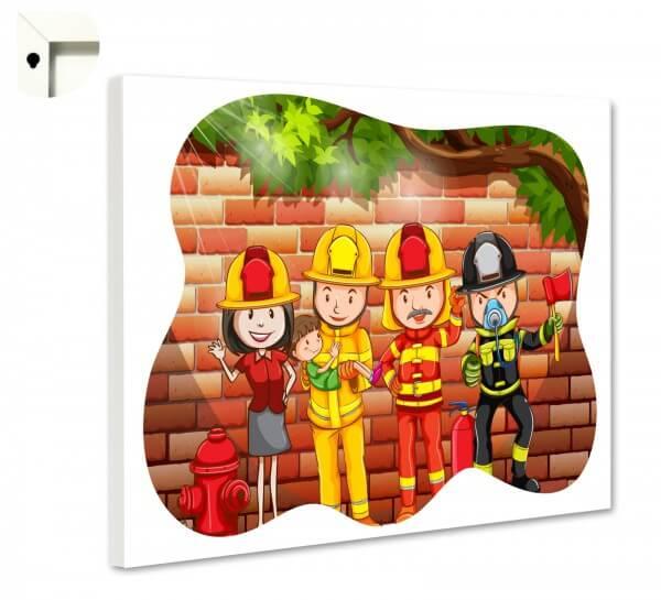 Magnettafel Pinnwand Kinder Freunde der Feuerwehr