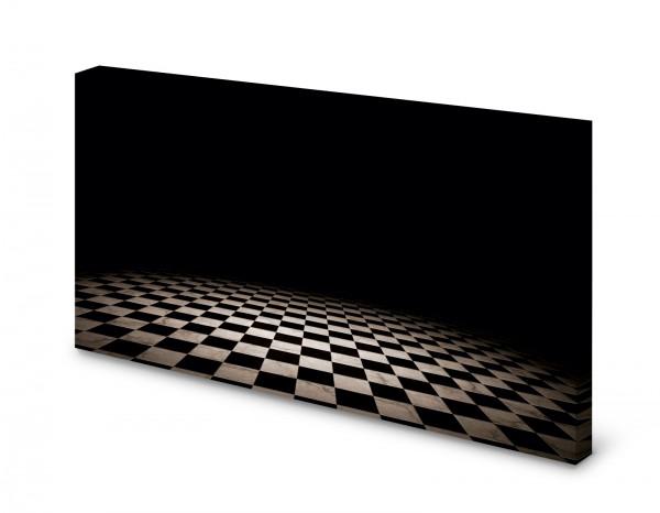Magnettafel Pinnwand Bild Kariert schwarz weiß gekantet