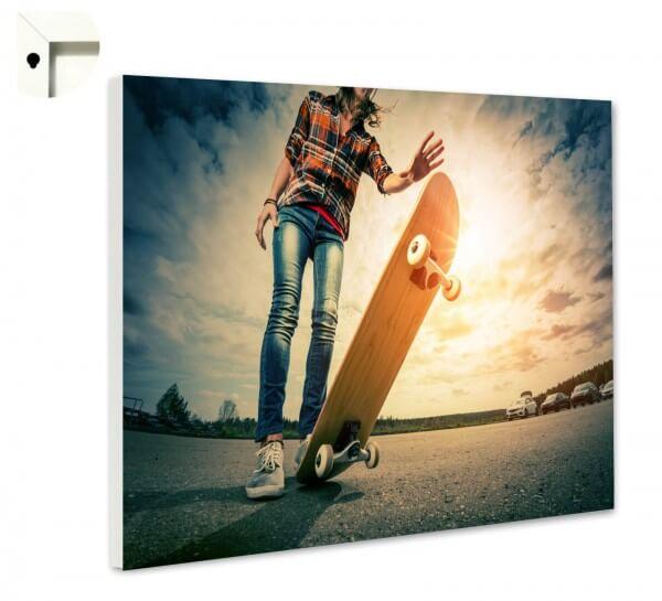 Magnettafel Pinnwand Skateboard Skater 1