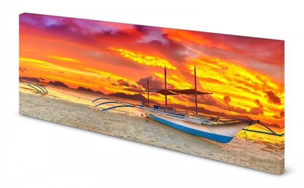 Magnettafel Pinnwand Bild Philippinen Boot Strand gekantet