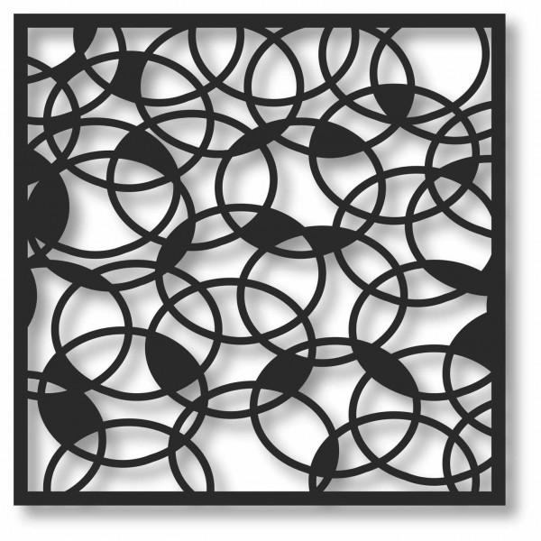 Bild Wandbild 3D Wandtattoo Acryl Mobile Muster Kreise Kugeln Abstrakt