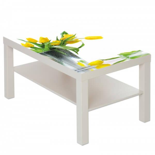 Couchtisch mit Motiv Natur & Blumen Gelbe Tulpen im Frühling