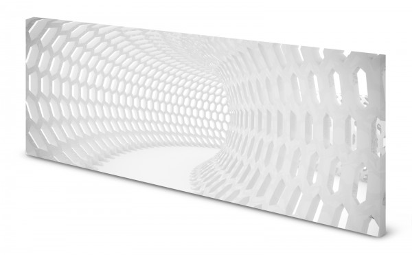 Magnettafel Pinnwand Bild 3D Effekt Tunnel Röhre weiß gekantet