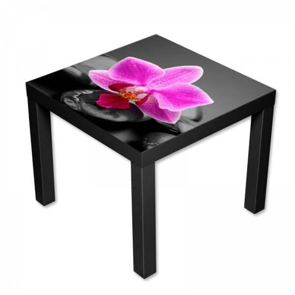 Beistelltisch Couchtisch mit Motiv Blumen rosa Orchidee