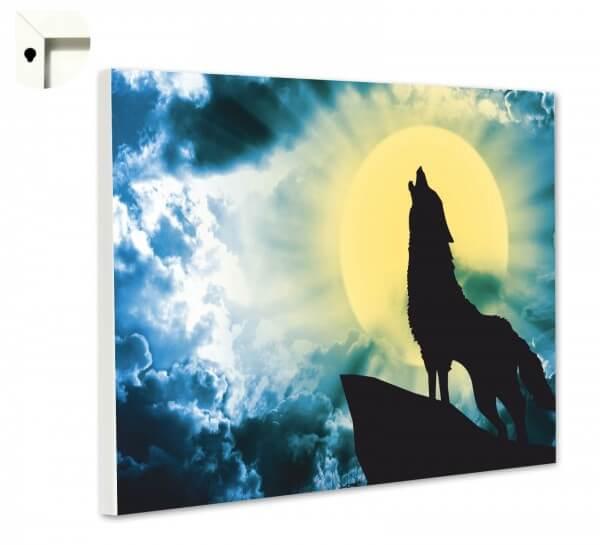 Magnettafel Pinnwand Tiere Wolf Vollmond