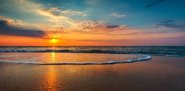 Magnettafel Pinnwand Bild XXL Panorama Meer Sonnenuntergang