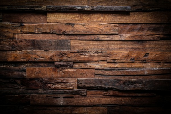 Magnettafel Pinnwand XXL Holz Holzplanken dunkel rustikal