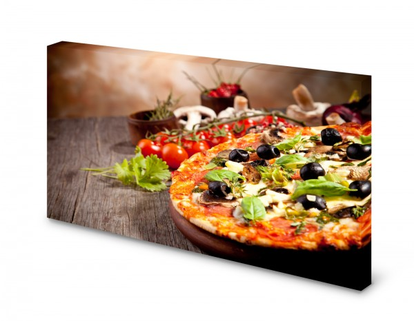 Magnettafel Pinnwand Bild Pizza Italien Küche XXL gekantet